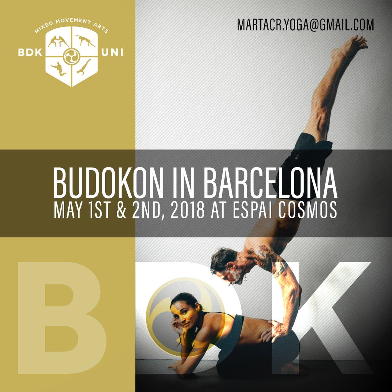 Budokon in Barcelona | 1/05 – 2/05/2018